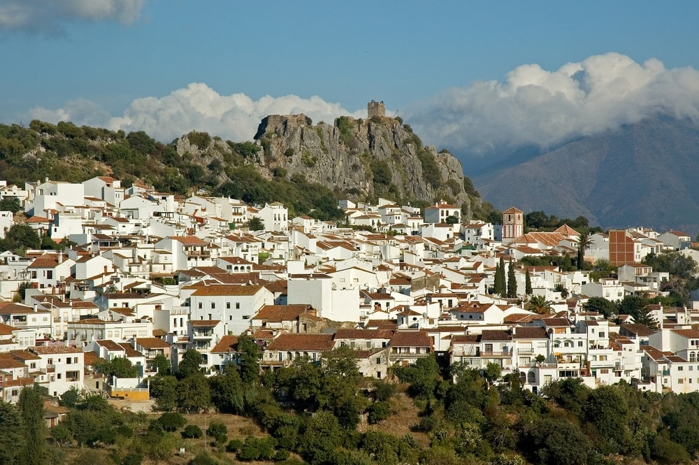 The white town of Gaucín (Malaga)