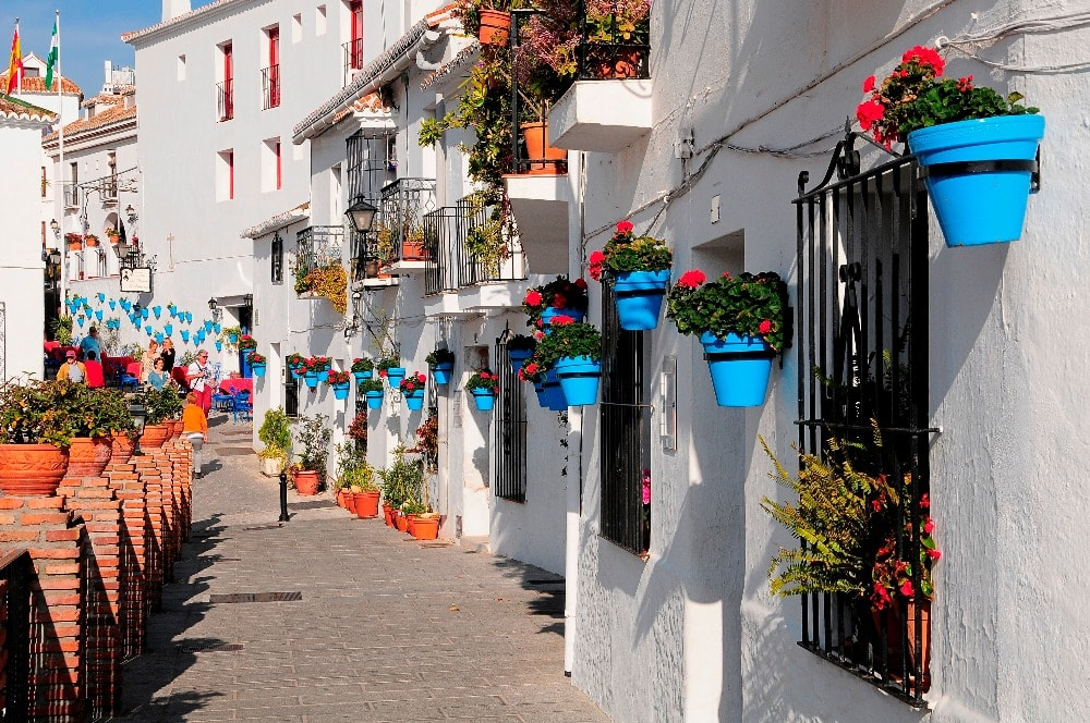 The white town of Mijas (Malaga)