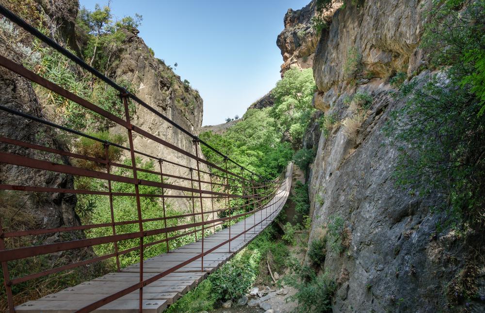 Los Cahorros van het Nationaal Park Sierra Nevada