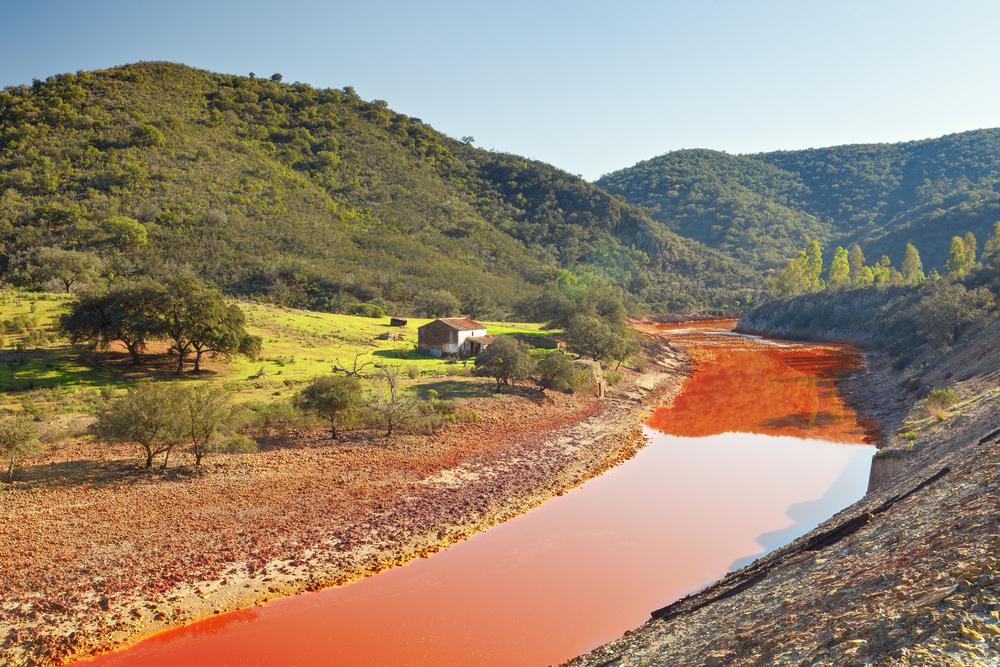 Riotinto rivier in de provincie Huelva