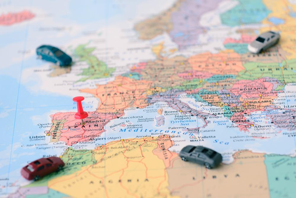 Waar ligt Andalusië in Spanje