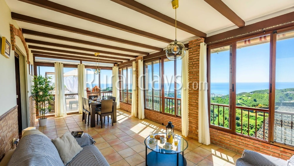 Acogedora casa rural en la Costa del Sol con sobrecogedoras vistas en Torrox - MAL1287