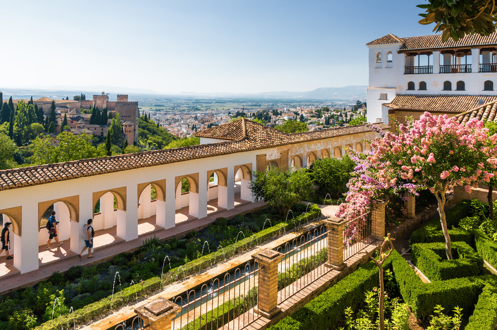 Generalife and palaces at the Alhambra in Granada