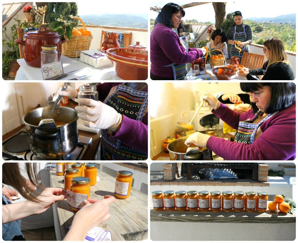 Orange jam workshop in Monda