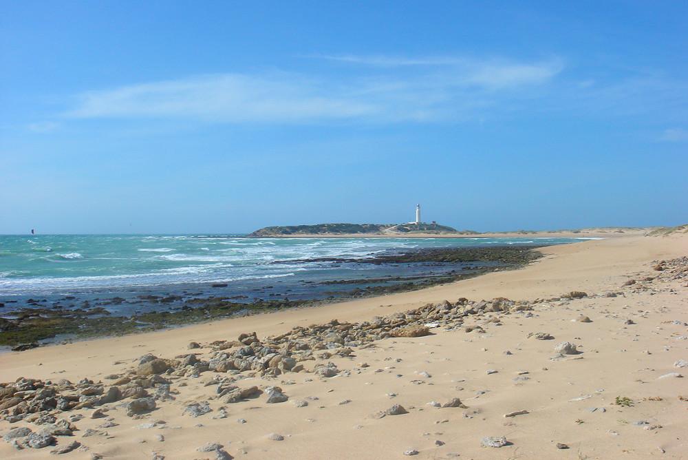 Strand van Caños de Meca om te gaan met honden