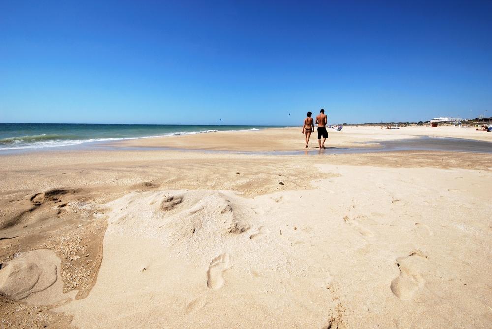 Strand van El Palmar om te gaan met honden