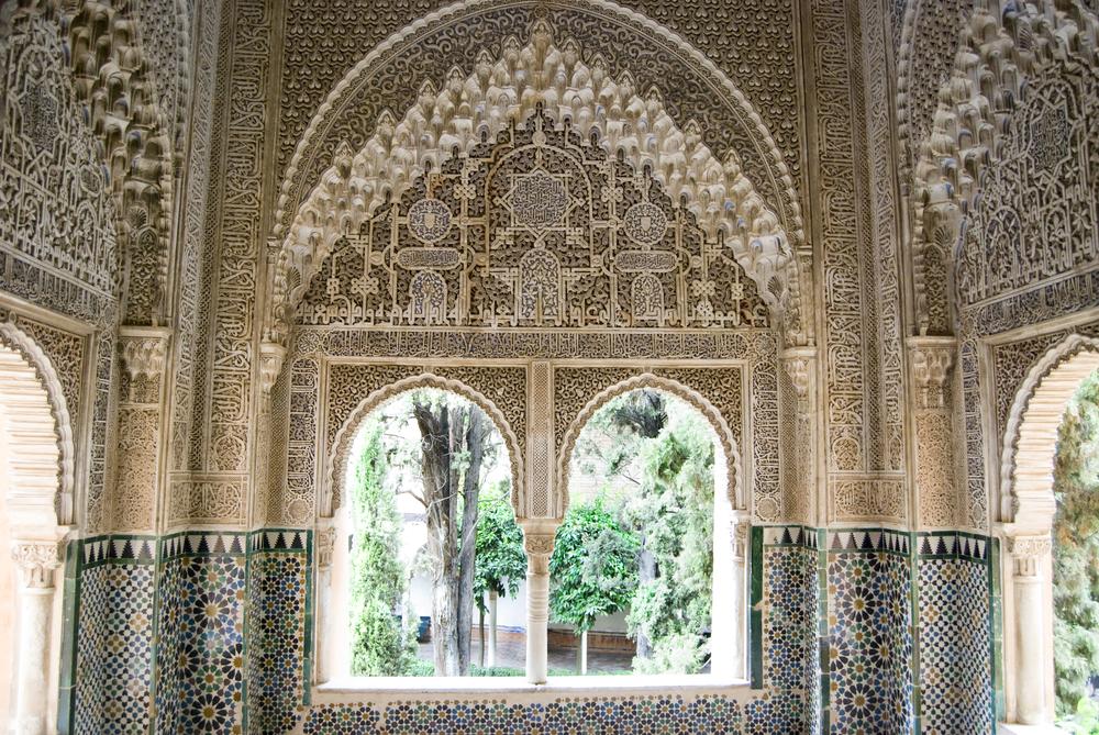Verschiedene Stile an der Alhambra Palast