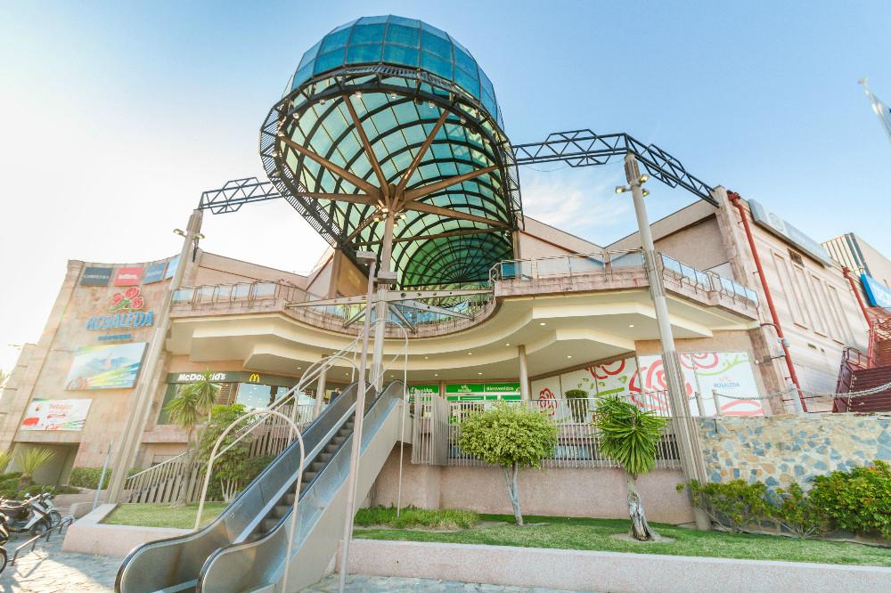 Centro comercial La Rosaleda en Málaga