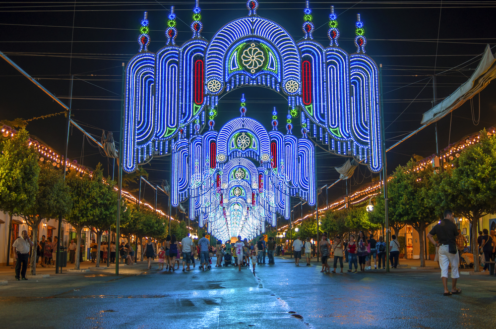 Night fair in Malaga