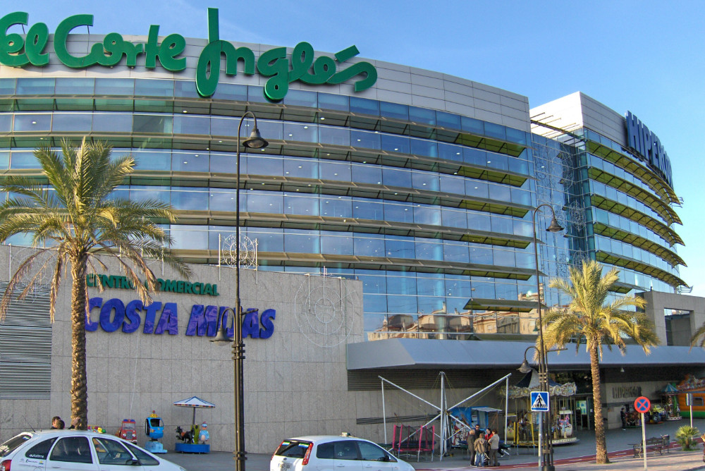 Shopping centre El Corte Inglés in Mijas