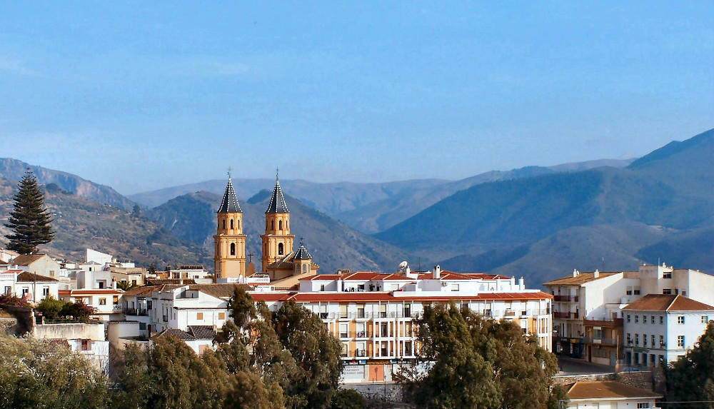 Órgiva in the Alpujarras in Granada