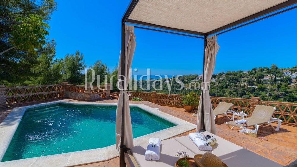 Típica casa rural andaluza en Frigiliana - MAL1289