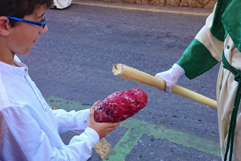 Wachs aus Prozessions Leuchter in Malaga