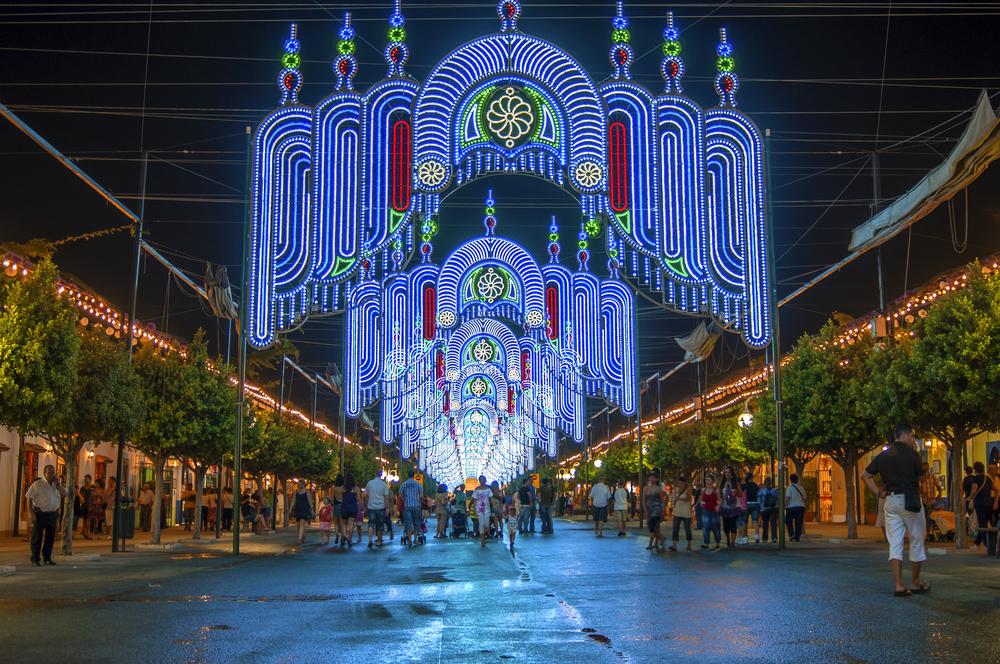 Feria de noche en Málaga