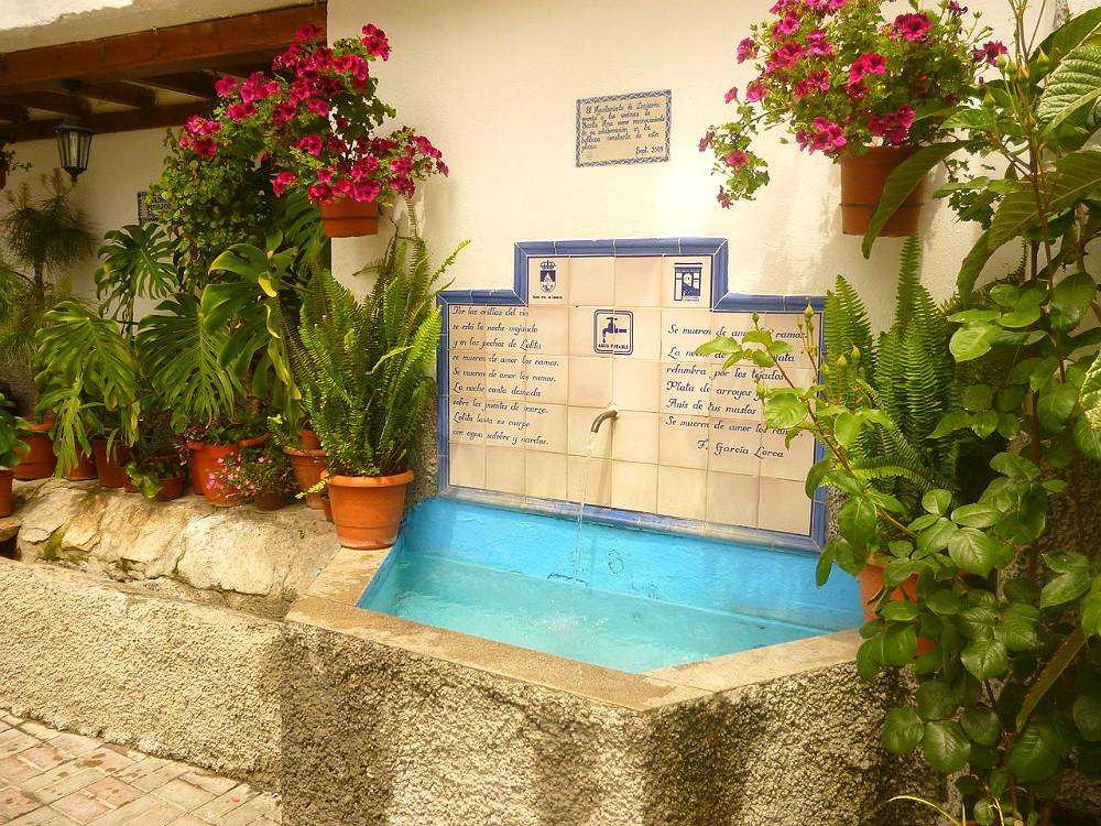 Fountain in Lanjarón in the Alpujarras in Granada