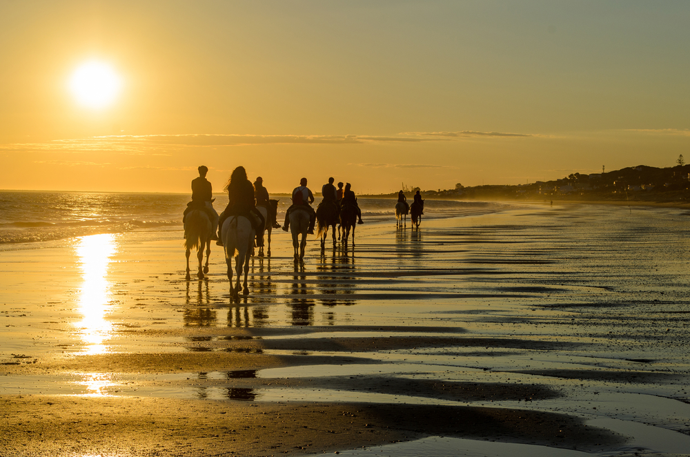 Paardrijden op het strand aan de Costa de la Luz