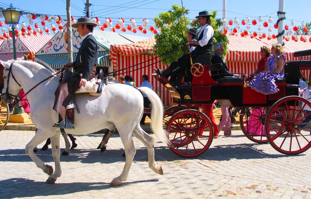 El Real während des Volksfests von Sevilla