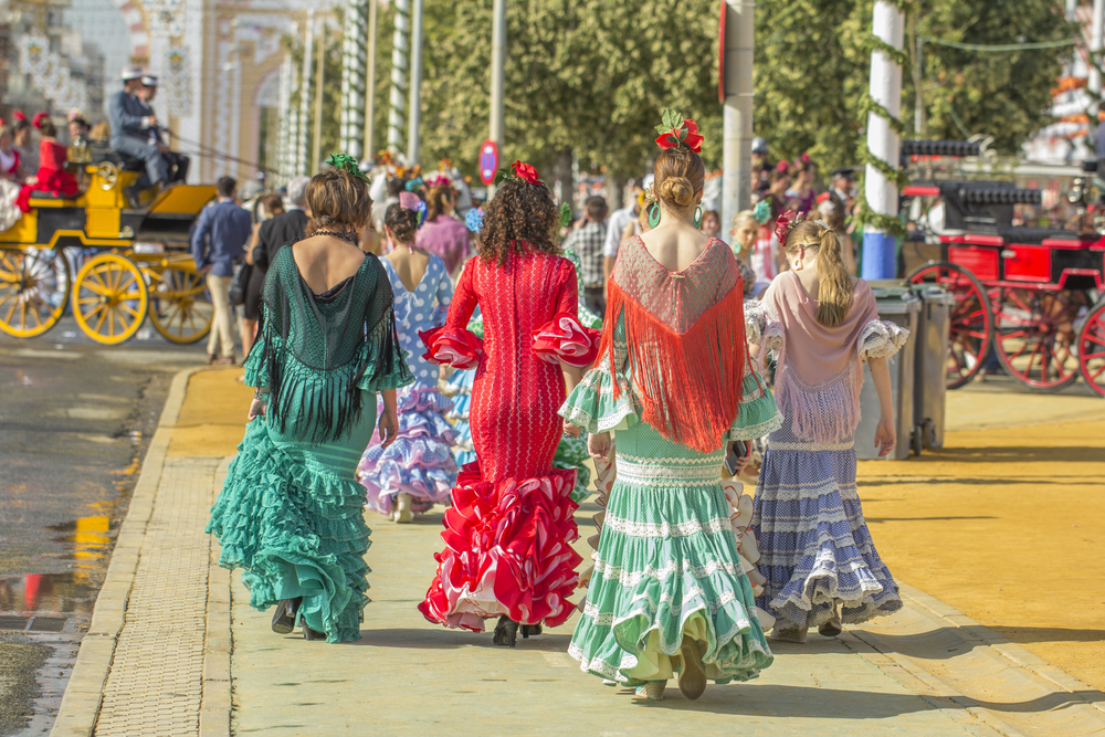 Traje de Flamenca during the April Fair in Seville