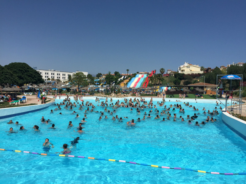 Aquavelis water park in Torre del Mar