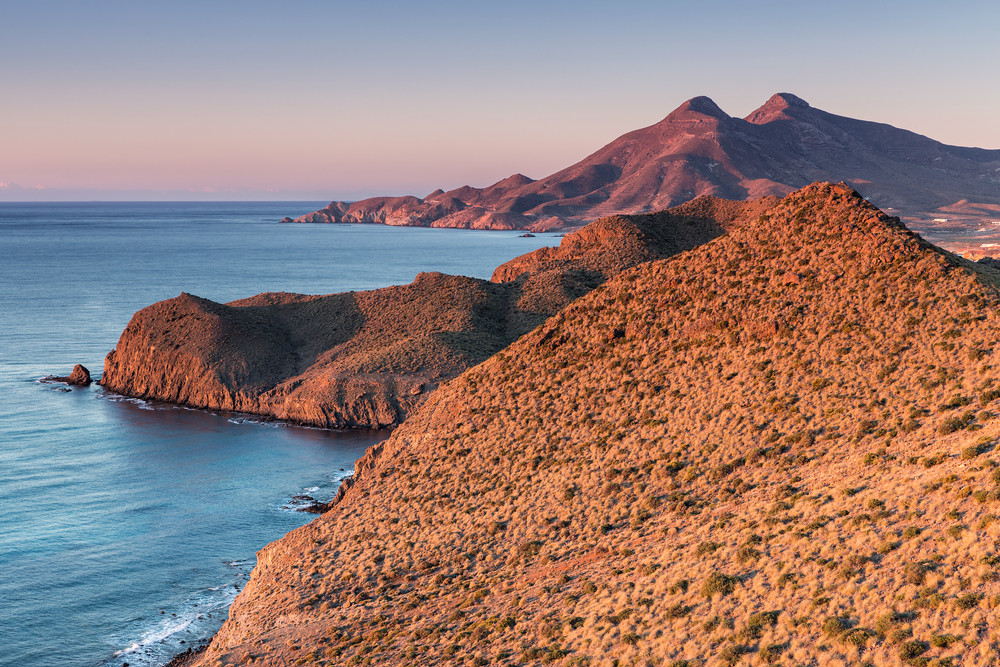 Gezichtspunt van La Ametista in Cabo de Gata Natuurpark