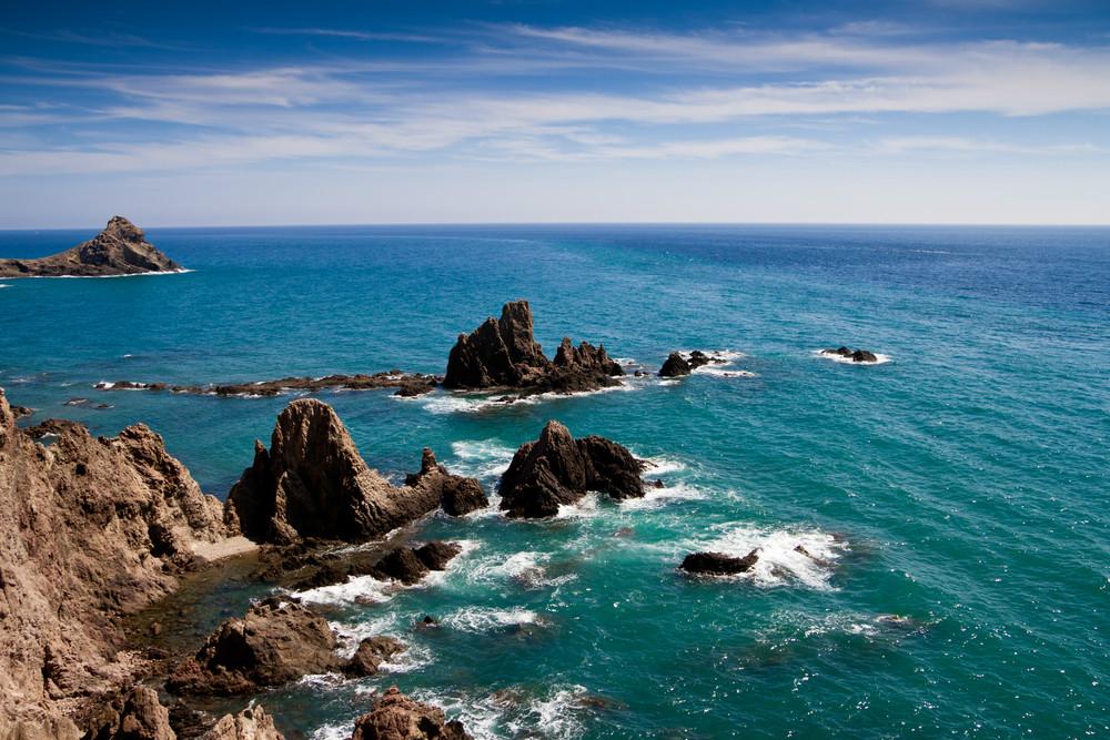 Gezichtspunt van Las Sirenas in Cabo de Gata Natuurpark