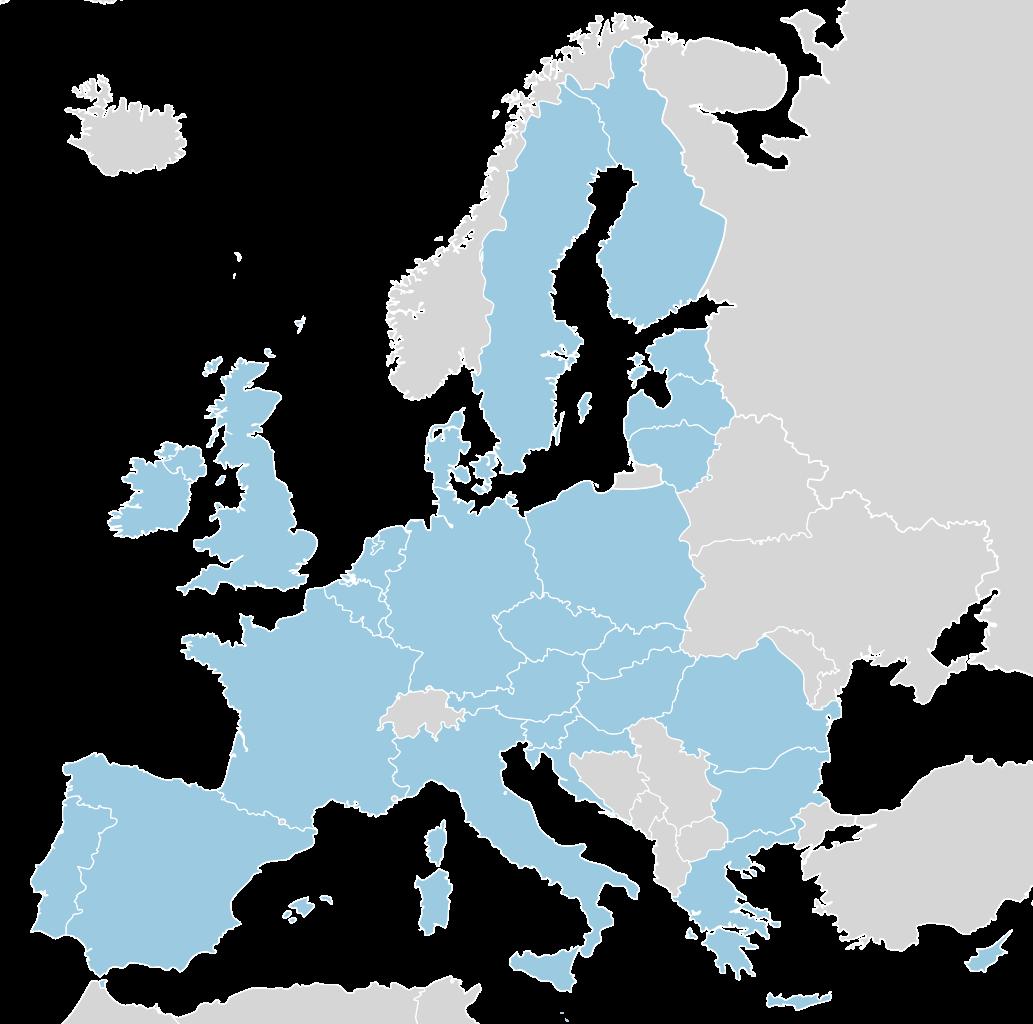 Karte der Europäischen Union