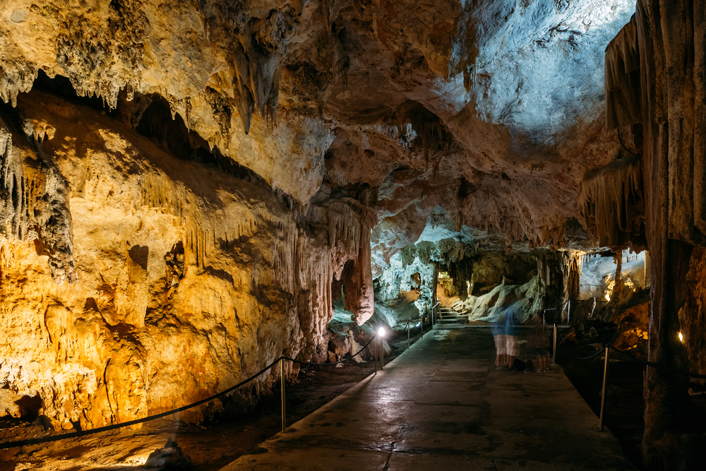 public in the caves of nerja