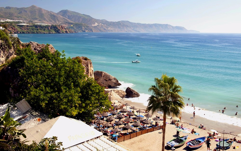 Beach of Calahonda in Nerja - best beaches in andalucia