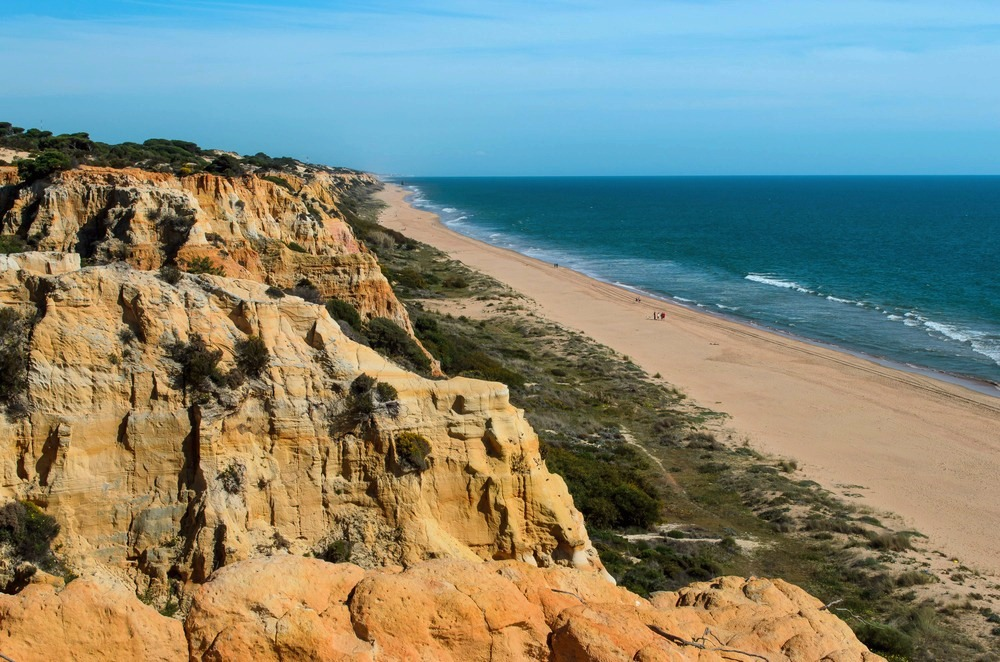 Beach of Cuesta Maneli in Almonte - best beaches in andalucia