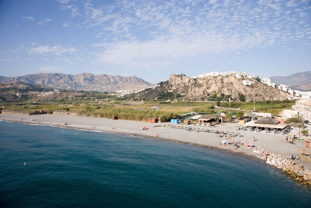 Beach of La Guardia in Salobreña- best beaches in andalucia