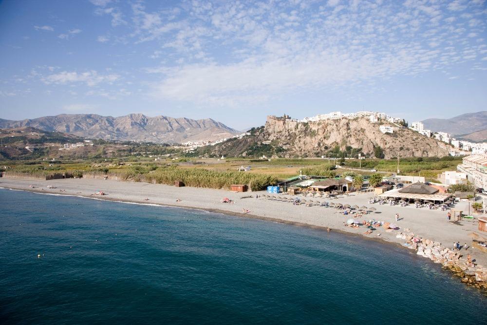 Beach of La Guardia in Salobreña- best beaches in andalucia