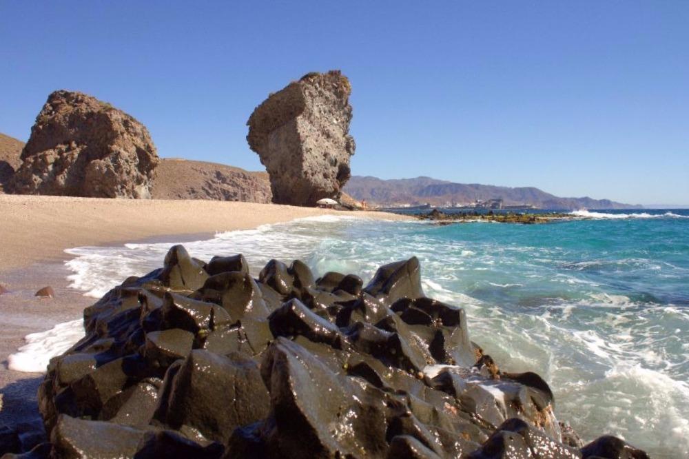 Beach of Los Muertos in Carboneras - best beaches in andalucia