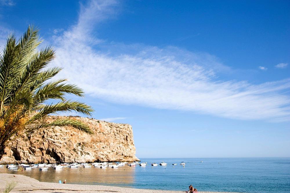 Plage de Calahonda à Motril - meilleures plages d'Andalousie