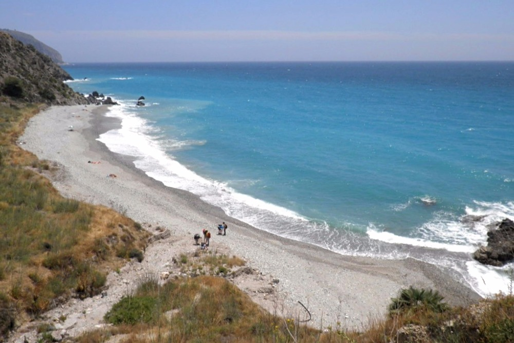 Beach of La Alberquilla in Maro (Nerja)