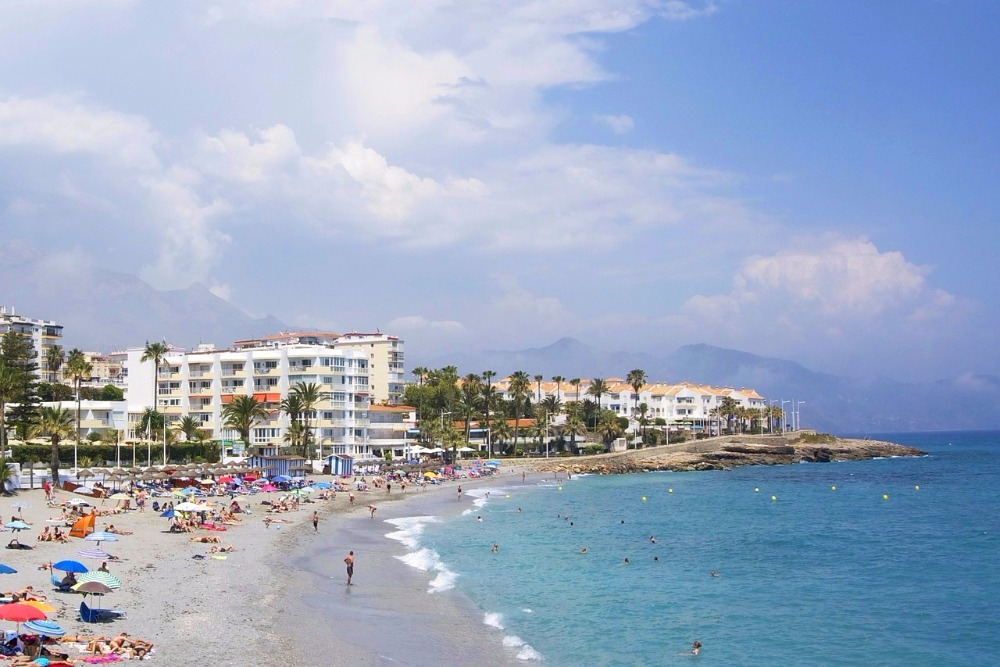 Beach of La Torrecilla in Nerja
