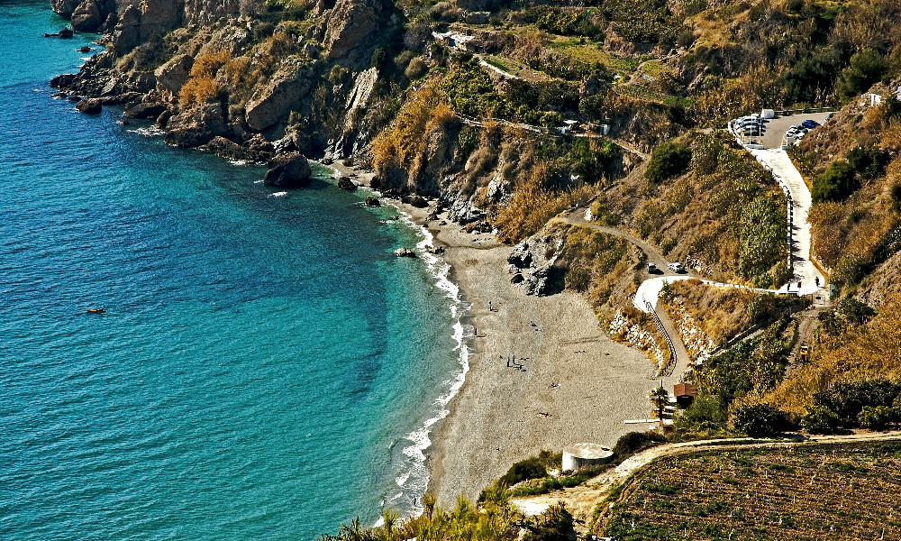 Beach of Maro in Nerja - best beaches in Nerja