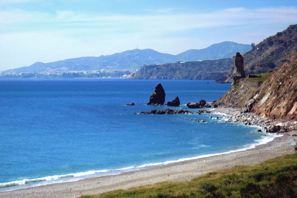 Beach of Molino de Papel in Maro (Nerja)
