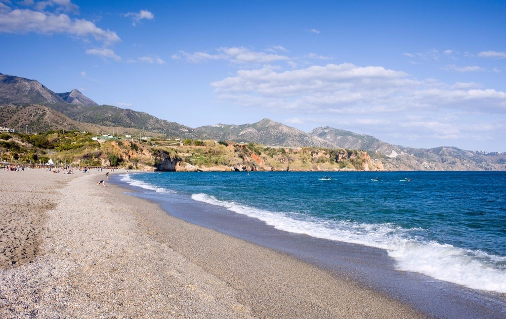 beach of Burriana - best beaches in Nerja