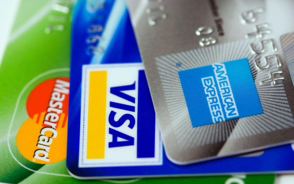 Kreditkarten MasterCard, Visa and American Express