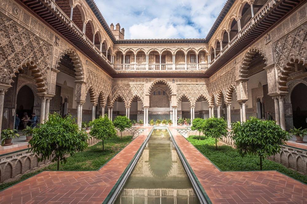 Real Alcázar in Sevilla gratis