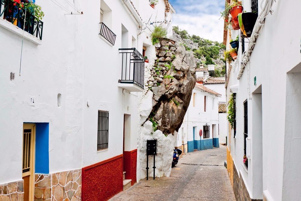 Rocks in the house of Setenil de las Bodegas