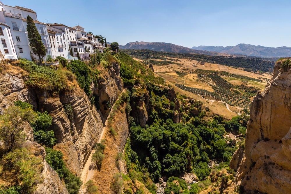 Uitzicht vanaf de Tajo de Ronda - vogelen