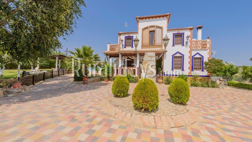 Fantastische Villa mit großartiger Deckenbemalung in Moriles (Cordoba)