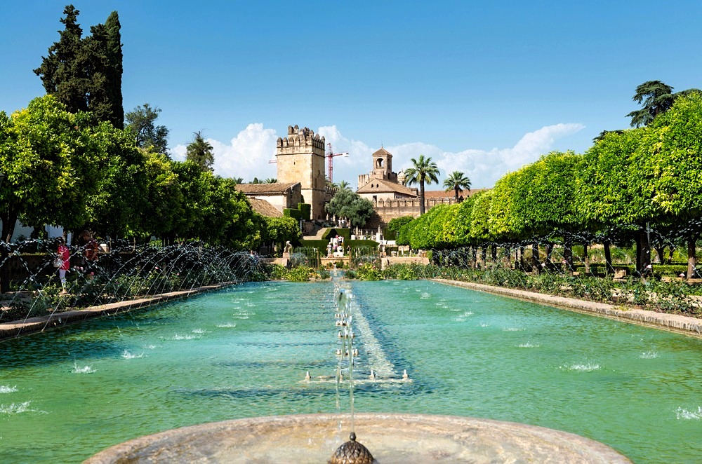 Alcázar avec fontaines