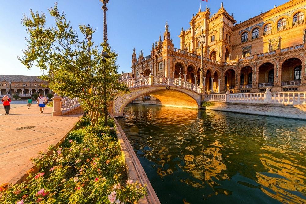 Canal en la Plaza de España en Sevilla - Andalucía en 14 días