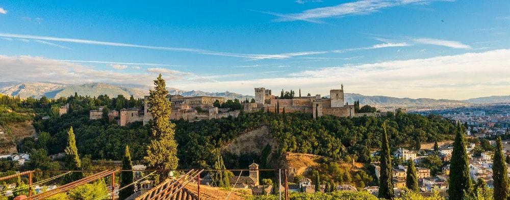 Die ansicht von die Alhambra - Andalusien in 14 Tagen