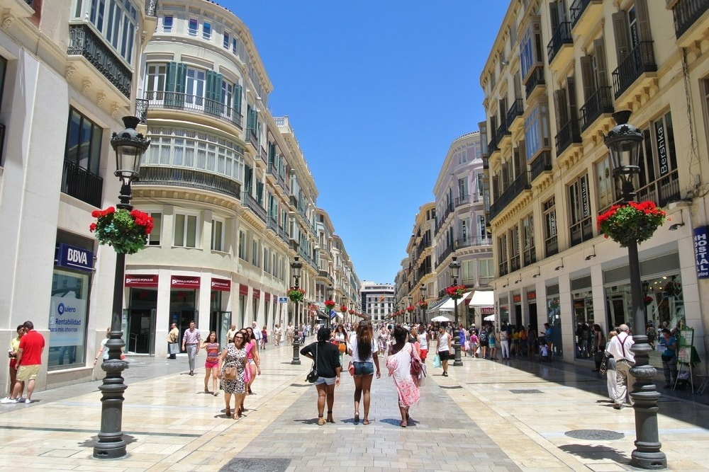 The street Larios in Malaga - Andalucia in 14 days
