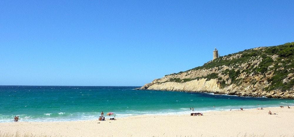 Nudist beach of Arroyo de Cañuelo in Zahara de los Atunes (Cadiz)