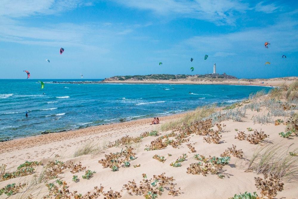 Nudist beach of Caños de Meca in Barbate (Cadiz)