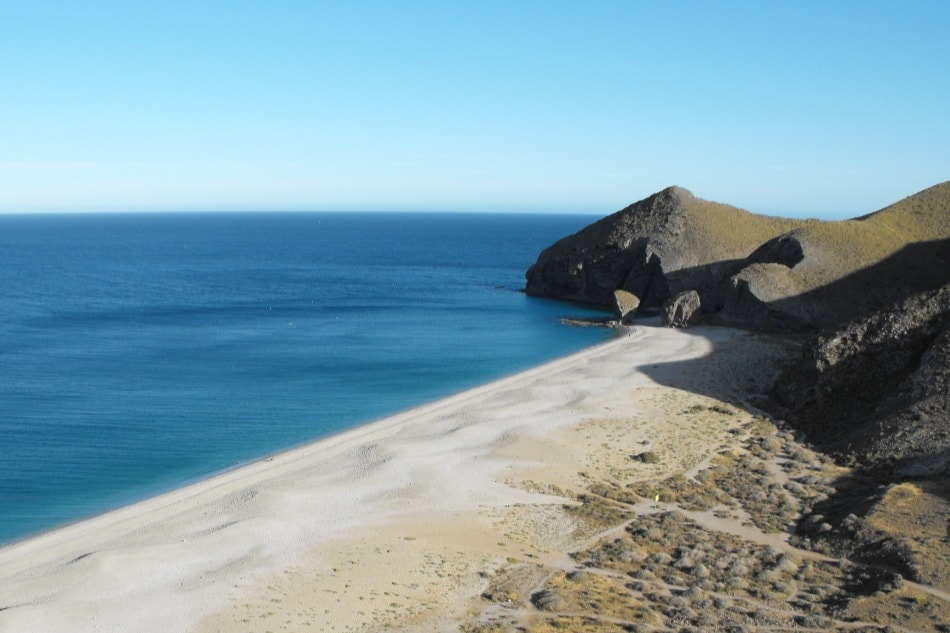 Nudist beach of Los Muertos in Carboneras (Almeria)